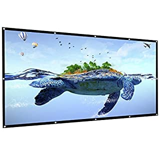 AUTOPDR Projection Screen,100 inch Foldable Portable Projector Movies Screen, 16:9 HD Anti-Crease Outdoor & Indoor Support Double Sided Projection