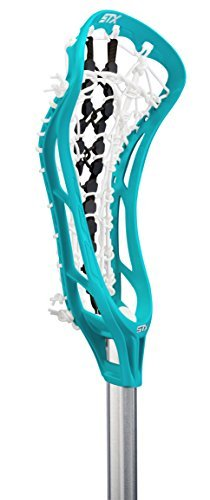 STX Lacrosse Women's EXULT 300 Complete Stick Teal Head and Black Runway Pocket on STX 7075 Handle by STX