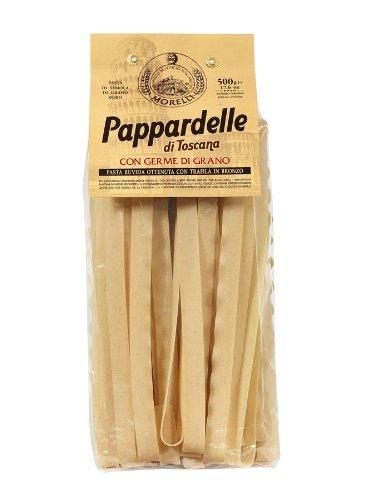 Antico Pastificio Morelli - Pappardelle di Toscana al Germe di grano (500gr) - Trafilata al bronzo - Pacco da 3 Confezioni (3 x 500gr)