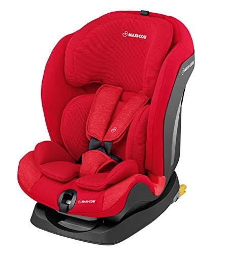 Maxi-Cosi Titan Kindersitz, mit Isofix Gruppe 1/2/3 (9-36 kg), mitwachsender Kinderautositz 123 mit Schlafposition, nomad red (rot)