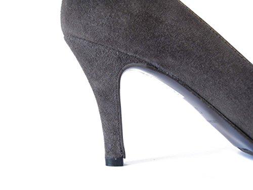 OSVALDO PERICOLI Scarpa Donna Decolletè con Tacco 8cm, Elegante, Suola Gomma antiscivolo-321 visone
