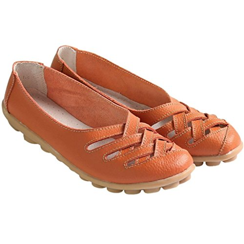 Kunsto Donna Flats Scarpe da ballerina arancione - arancione