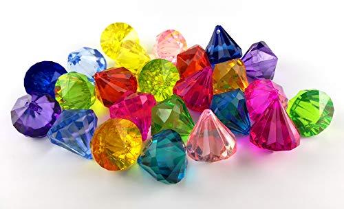Multicolor Party Favors Große Acryl Diamant Edelsteine Pirate Künstliche Juwelen Schatz für Heimtextilien ()