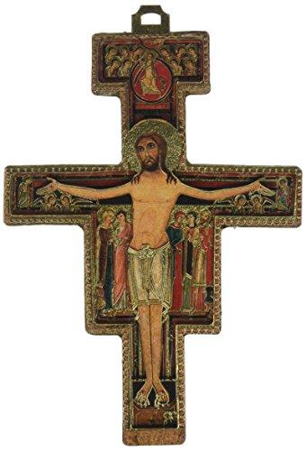 stealstreet 12,7cm Multi dimensionale Holz San Damiano Kruzifix
