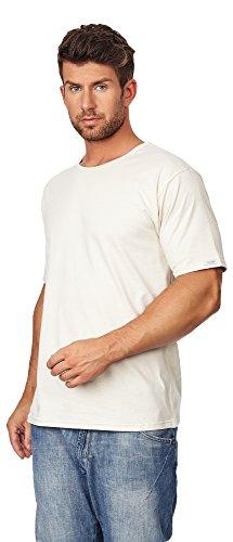 Cornette Glatter Herren T-Shirt CR-202 Ecru