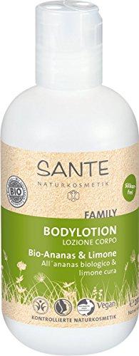 SANTE Naturkosmetik Bodylotion Bio-Ananas & Limone, Geschmeidige Haut, Zartweich & pflegend, Vegan, Bio-Extrakte, 2x200ml Doppelpack