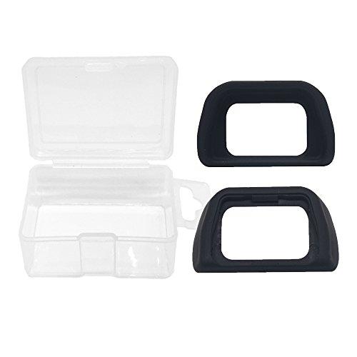 Alliebe EP-10 Augenmuschel Okular Sucher für Sony Alpha A6000 A7000 Nex-5 Nex-6 Nex-7 DSLR-Kamera ersetzt Sony FDA-EP10 (2 Packung) mit Alliebe Mini-Speicher Case