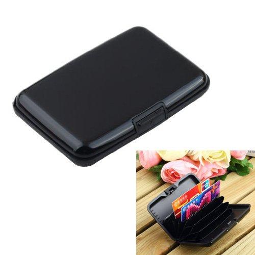 Preisvergleich Produktbild SODIAL (R) Kreditkartenetui RFID-blockierender – Schwarz Farbe