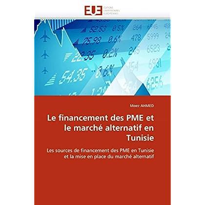 Le financement des pme et le marché alternatif en tunisie