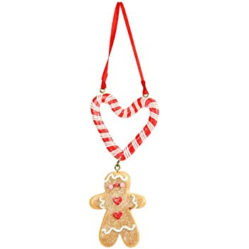 Gisela Graham Christmas Decoration - Gingerbread Man Candy ...