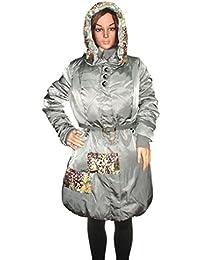 Kotak Sales Imported Stylish Women Winter Material PU Coat Warm Jacket Mid Length Overcoat Detachable Hood for Ladies Girls (Size L)