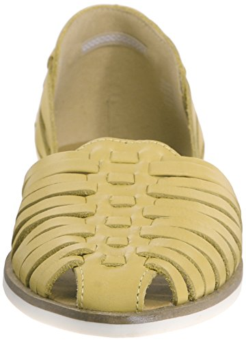 Steve Madden Women's Hillarie Moccasin, Yellow Leather, 7 M US Yellow Leather