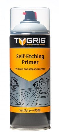 Self Etching Primer Aerosol (tygris 400 ml Acryl Aerosol Spray Paint Art DIY Craft Komplette Serie * Farbe wählbar *, Self Etching Primer Grey - P309, 1)