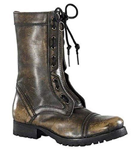 XYXYX - Stiefel Stiefelette aus Leder in Braun Gr. 38