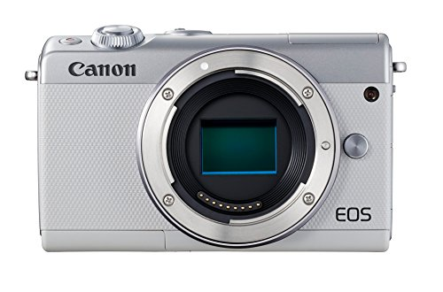 Canon EOS M100 - Cámara compacta de 24.2 MP (LCD, FHD, Bluetooth, Wifi/NFC, Dual Pixel AF, DIGIC 7) blanco - solo cuerpo