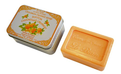 Le Blanc M9702 Boîte en Métal pour Savon Cannelle Orange 100 g