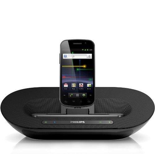 Philips AS351/12 Dockingsystem für Android mit Micro-USB (Bluetooth, MP3-Link,Internetradio-App) schwarz