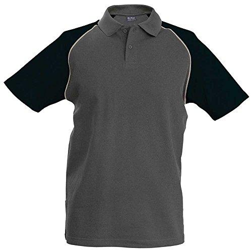 "KaribanHerren Poloshirt XXL - 44/46"" Chest grau - Slate Grey/Light Grey/Black"