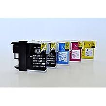LC-1100/LC-980 Printing Saver pack de 5 cartuchos de tinta compatibles para BROTHER DCP-145C, DCP-163C, DCP-165C, DCP-167C, DCP-185C, DCP-195C, DCP-197C, DCP-365CN, DCP-373CW, DCP-375CW, DCP-377CW, DCP-383C, DCP-385C, DCP-387C, DCP-395CN, DCP-585CW, DCP-6690CN, DCP-6690CW, DCP-J715W, MFC-250C, MFC-255CW, MFC-257CW, MFC-290C, MFC-295CN, MFC-297C, MFC-490CW, MFC-5490CN, MFC-5890CN, MFC-5895CW, MFC-6490CW, MFC-670CD, MFC-670CDW, MFC-6890CDW, MFC-790CW, MFC-795CW, MFC-930CDN, MFC-990CW, MFC-J615W