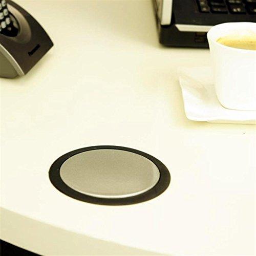 HUX POWER® 3 fach Versenkbare Tisch-Steckdose, mit USB-Anschluss, EL1803SU (erhältlich in verschiedenen Größen, Abdeckung und Anschlüssen)