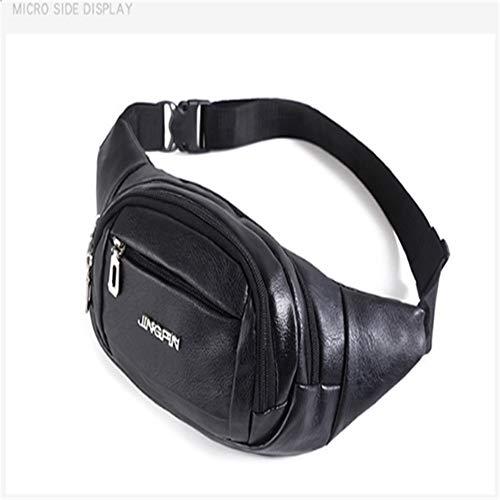 Gürteltasche, Herrenbrieftasche Outdoor Sports Wasserdichte Slant Bag Tragbare Reise PU Handytasche
