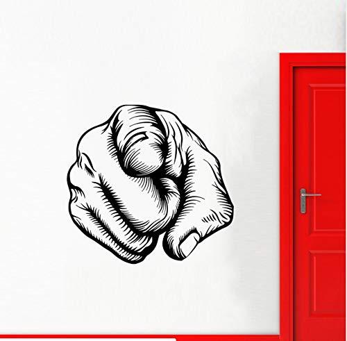 Zeigefinger Sollten Große Wandaufkleber Für Zimmer Aufkleber Persönlichkeit Vinyl Decals Home Poster Murals 60X57 Cm