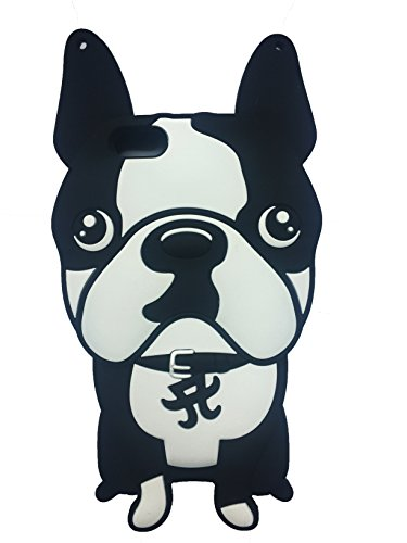 Bouledogue français Boston Terrier Pug la forme 3D en caoutchouc souple en silicone Retour Housse étui Tpu Gel Skin pour iPhone 7 © Sloth Cases