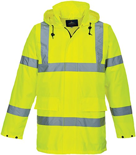 Portwest s160yerl Hi-Vis Lite Traffic Jacket - parent, Medium, gelb, 1 Polyester Traffic Safety Vest