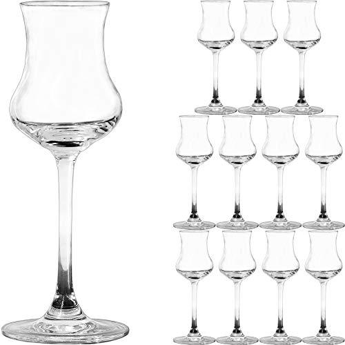 Unbekannt 12 Stück Grappagläser Schnapsgläser Grappaglas Schnapsglas Obstbrandglas Likörglas