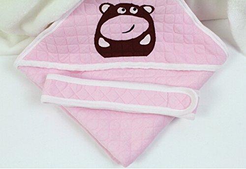 AUBIG Baby Newborn Decke Babydecke Wickeldecke Babyhörnchen Erstlingsdecke Puckdecke Schmusedecke Warm und Weich 80 * 80cm - Pink