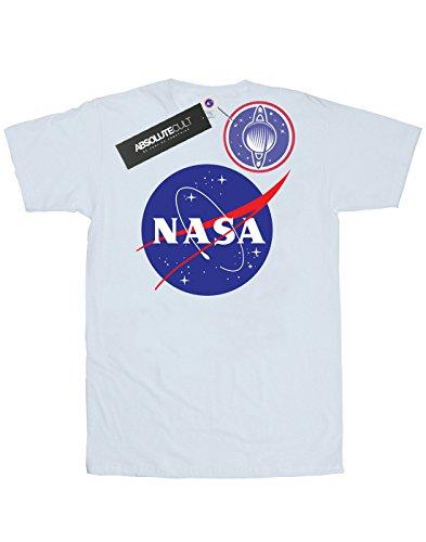 Nasa Herren Classic Insignia Logo T-Shirt Weiß