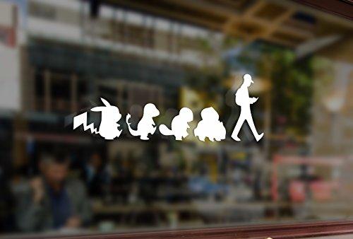 25cm Pokémon Go Vinyle Stickers Funny Autocollants Pare-Chocs de Voiture Auto Ordinateur Portable Murale Verre de Skateboard/Snowboard