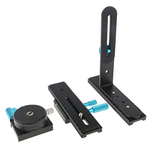 Piastra a Sgancio Rapido per la Maggior Parte dei Treppiedi Set di 2 Realizzato in Plastica Di Alta Qualit/à per Sony VCT-D680RM VCT-D680RM VCT-R640 e pi/ù Modelli