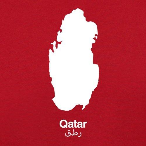 Qatar / Katar Silhouette - Herren T-Shirt - 13 Farben Rot