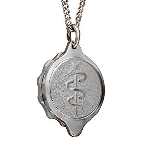 SOS Talisman ST21 Medizinisches Zeichen Medizinisches Notfall-Halskette, Notfall-Anhänger, Edelstahl, Diabetes, Epilepsie, Allergie, wasserdicht.