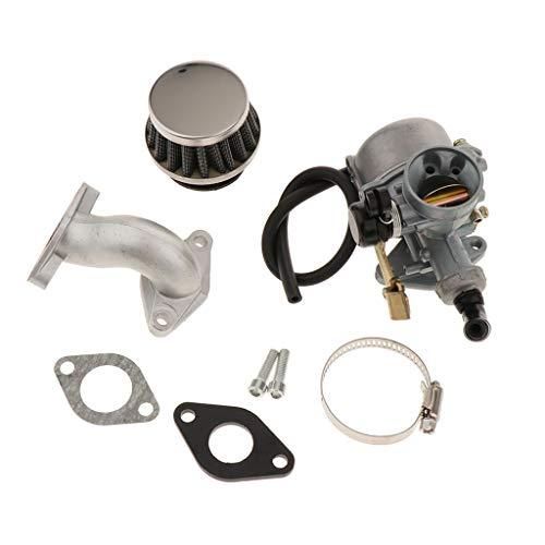 H HILABEE Filtro de Aire + Carburador + Tubo de Admisión + Junta para 50cc 70cc