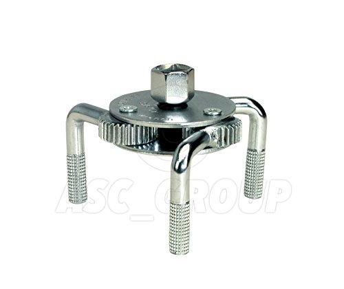 ASC Universal 3Bein Ölfilter Claw Schlüssel 65–130mm