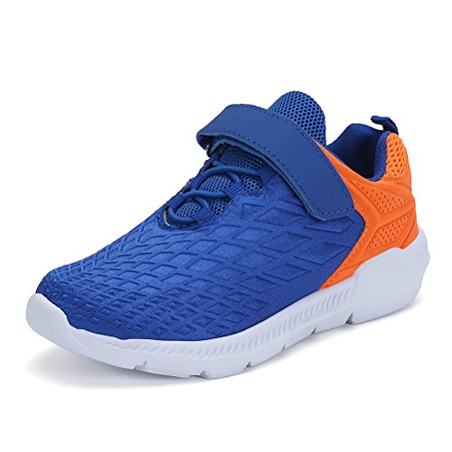 AFFINEST Unisex-Kinder Sportschuhe Fashion Seakers Breathable Leuchtschuhe Freizeitschuhe Jungen Outdoor Schuhe mit Multicolor(blau,37)