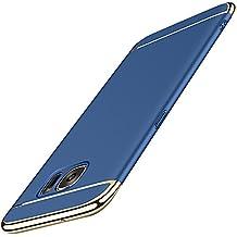 Vanki Custodia Samsung Galaxy S6, 3 in 1 Hard PC Ultra Sottile Placcatura Anti-Scratch Bumper Protettiva Cover Case per Samsung Galaxy S6 (Samsung Galaxy S6, blu)