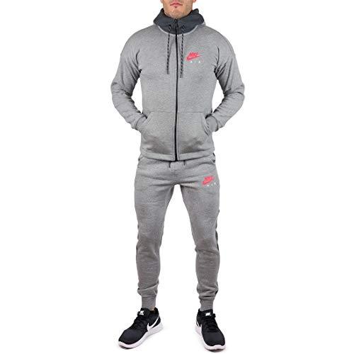 Nike Herren Trainingsanzug Grau grau Gr. L, grau -
