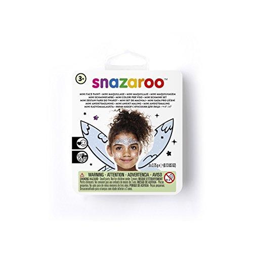 Snazaroo 1172085 Kinderschminke Mini Set Eisprinzessin, 3 Schminkfarben, Farben: Eisgrau, Blau,...