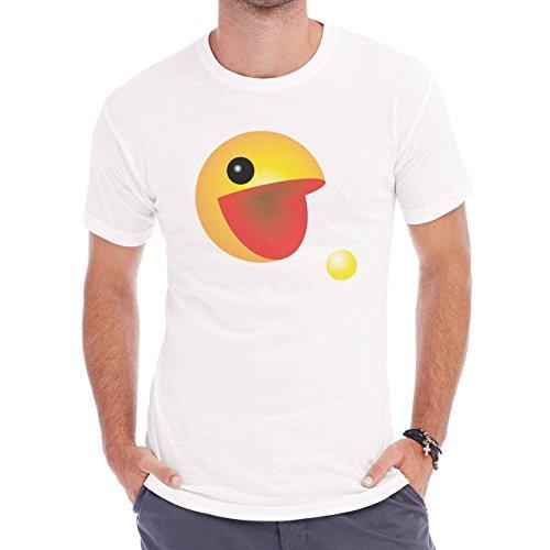 Pack Man Yellow Game Nintendo Mouth Herren T-Shirt Weiß