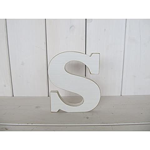 Bois lettres alphabet A-Z Lettres décoratives individuellement–inscription: env. 14x 18cm en bois blanc S