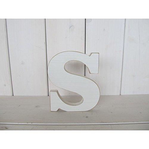 Holz Buchstaben einzeln Alphabet A-Z Deko Buchstaben Schriftzug ca. 14x18 cm Holz weiß Color S