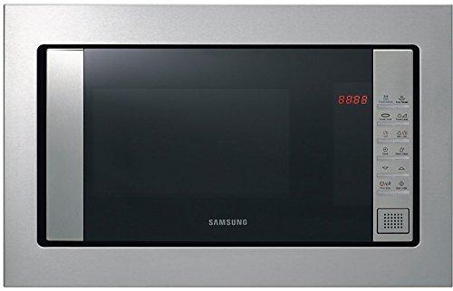 Samsung FG87SST/XEC - Horno-Microondas encastrable con grill, 23 litros, 800 W, acero inoxidable, color plata