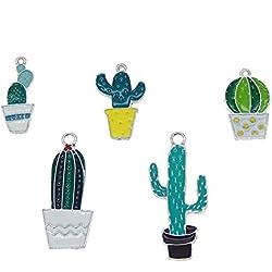 20 abalorios de cactus para pulsera