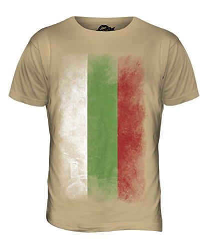 CandyMix Bulgarien Verblichen Flagge Herren T Shirt Sand
