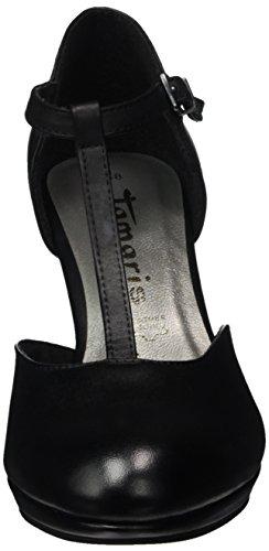 Tamaris 24412, Scarpe con Chiusura a T Donna Nero (BLACK 001)