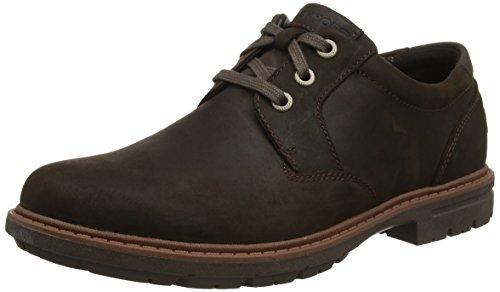 Rockport Tough Bucks Plain Toe Oxford 2, Zapatos de Cordones Hombre, Marrón (Dark Brown), 40.5 EU