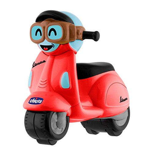 Chicco - Mini moto Vespa Turbo Touch, con carga por retroceso, color...
